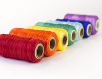 螺纹劳斯与彩虹颜色的 免版税库存照片