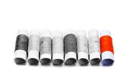 螺纹堆异常的小短管轴  免版税库存照片