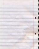 螺纹笔记本页 库存照片