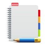 螺纹笔记本 免版税库存图片