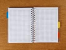 螺纹笔记本 免版税库存照片
