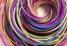 螺纹色的螺旋在白色背景的 免版税图库摄影