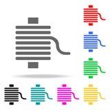 螺纹象 缝合流动概念和网apps的多色的象的元素 网站设计和发展的, app d象 库存例证