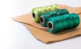 螺纹绿色卷  库存图片