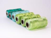 螺纹绿色卷  库存照片