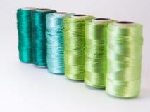 螺纹绿色卷  图库摄影