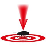 蟑螂一只危险昆虫 图库摄影