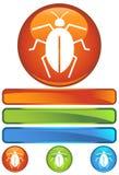 蟑螂图标橙色舍入 库存照片