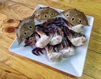 蟹肉白肉 免版税图库摄影