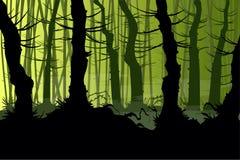 蠕动的传染媒介森林 向量例证