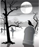 蠕动的坟园 库存图片