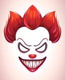 蠕动的小丑面具 皇族释放例证