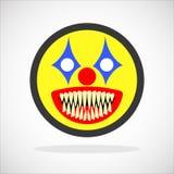 蠕动的小丑面带笑容 库存照片