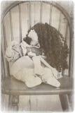 蠕动的瓷玩偶 免版税库存图片