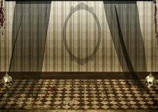 蠕动被放弃的室背景 免版税库存图片
