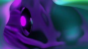 蠕虫孔无限循环-美好的五颜六色的隧道飞行 向量例证