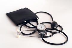 血压测量仪工具 免版税库存图片