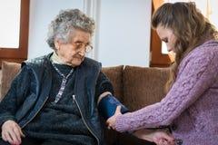 血压测量 免版税库存图片