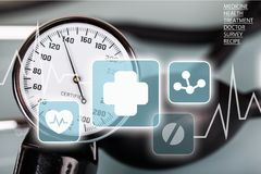 血压测量仪 免版税库存图片