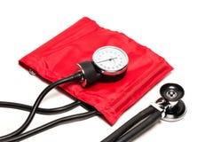 血压袖口,特写镜头 免版税库存图片