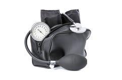 血压评定的医疗设备 库存图片