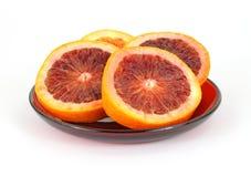 血橙镀红色 免版税库存照片