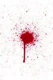 血液下落泼溅物 免版税图库摄影
