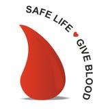 血液下落,安全生活给血液 免版税图库摄影