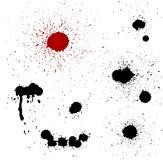 血液下降剪影向量 库存图片