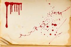 血液书老页纹理 免版税图库摄影