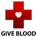 血液交叉产生红色 库存照片