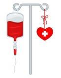 血液产生生活除之外 库存例证