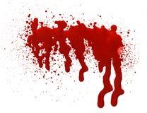血液剪报下落包括的路径 免版税图库摄影