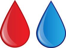血液和水 图库摄影