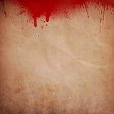 血液喷溅了难看的东西背景 免版税库存图片