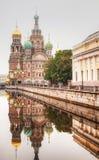 血液大教堂的救主在圣彼德堡 库存照片