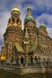 血液彼得斯堡圣徒救主寺庙 免版税库存图片