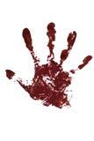 血液手印刷品 免版税库存照片