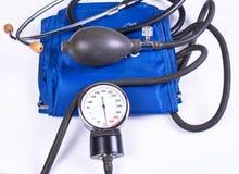 血液手工监控程序压 医疗设备 库存图片
