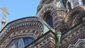 血液教会主要纪念碑一彼得斯堡宗教俄国救主看见溢出的st 慢的行动 3840x2160 股票视频