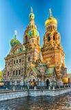 血液教会彼得斯堡俄国救主溢出的st 图库摄影