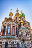 血液教会彼得斯堡俄国救主溢出的st 库存照片