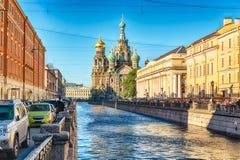 血液教会彼得斯堡俄国救主溢出的st 库存图片