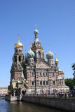 血液教会彼得斯堡救主溢出的st 库存图片