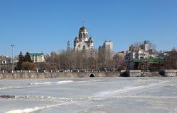 血液教会救主 Ekaterinburg 俄国 免版税库存照片