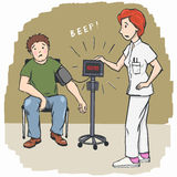 血液数字式高查出的宏观监控程序preasure压 图库摄影