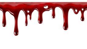 水滴血液无缝反复性 免版税库存照片
