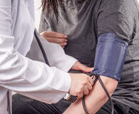 血液检查压 免版税库存图片