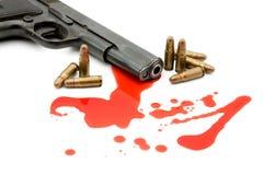 血液概念枪谋杀 免版税图库摄影