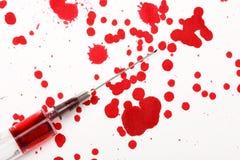 血液注射器 图库摄影